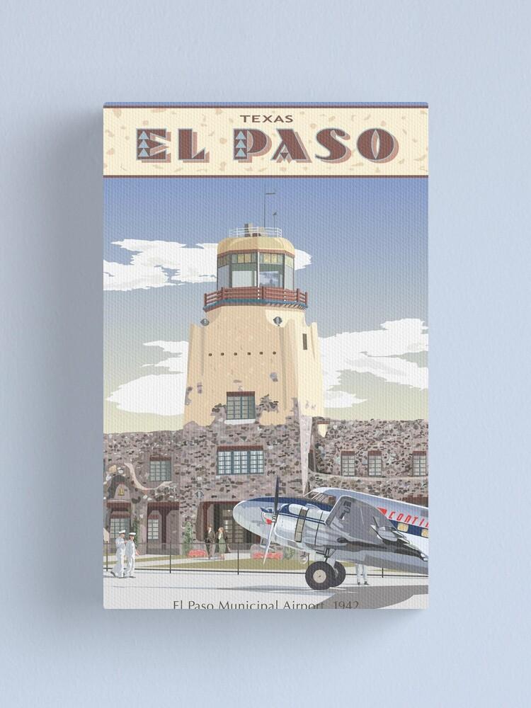 Alternate view of El Paso Municipal Airport, 1942 Canvas Print