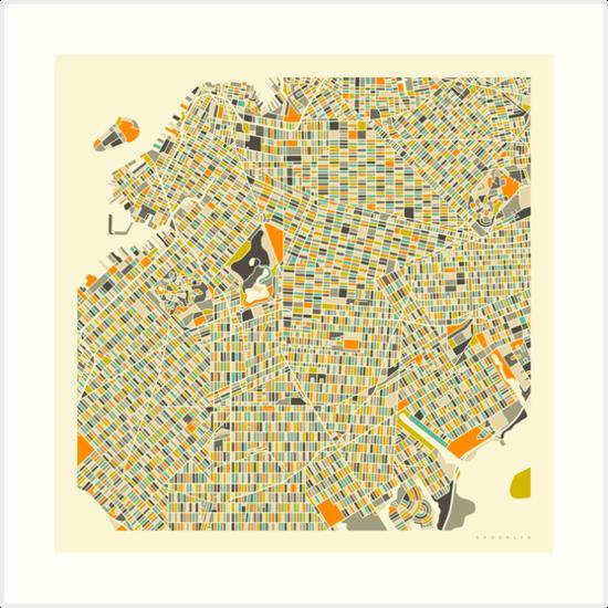 BROOKLYN Map by JazzberryBlue