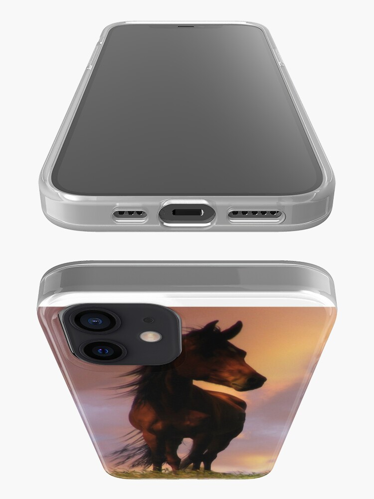 Alternate view of Beautiful Silhouetted Horse in Colorful Sundown iPhone Case & Cover