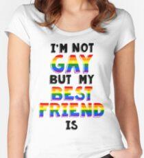 Ich bin nicht Homosexuell, aber mein bester Freund ist Tailliertes Rundhals-Shirt