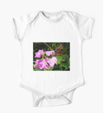 Owl Butterfly on Petunia. One Piece - Short Sleeve