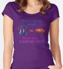 Pi vs. Pie Women's Fitted Scoop T-Shirt