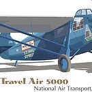 Travel Air 5000, National Air Transport, 1931 by contourcreative