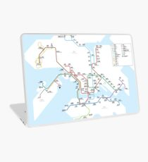 Hong Kong city subway metro map Laptop Skin