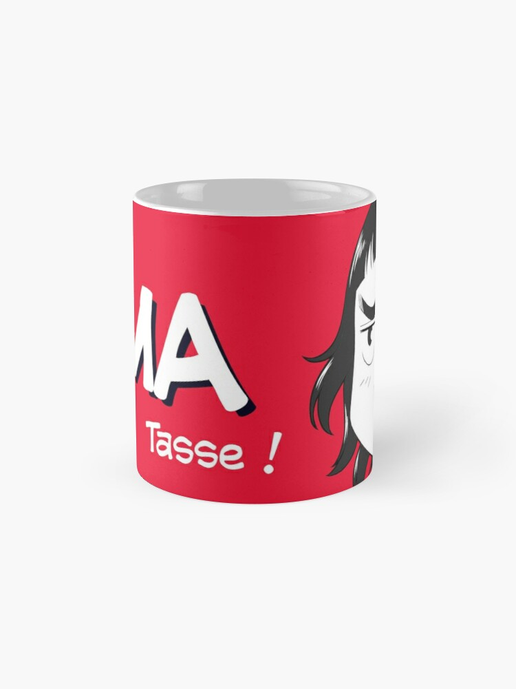 Mug ''8-OPTIONS.COM - FR - MA TASSE - ROUGE - 10$ pour auteurs': autre vue
