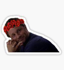 Nathan Riggs Flower Crown Sticker