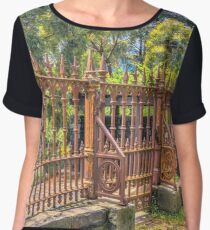 Gateway to the Eltham Cemetery Chiffon Top
