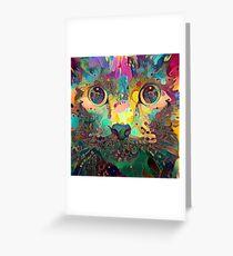 Catnip Color Perception (Electric Catnip) Greeting Card
