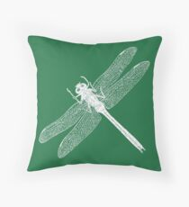 Dragonfly (Green) Throw Pillow