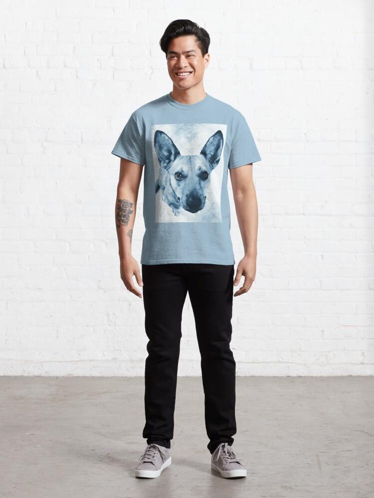 Alternate view of Carolina Dog Blue Pup - American Dingo Classic T-Shirt