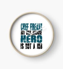 Chief Fireman Hero Clock