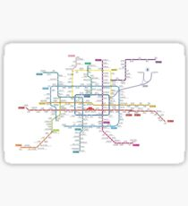 Beijing city subway metro map Sticker
