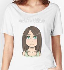 Good Girl   Anime / Chibi   Japanese Women's Relaxed Fit T-Shirt