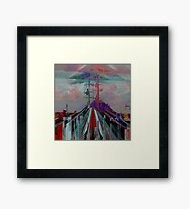 Premonitions along the road to Ghost Mountain, Panel 3 Framed Print