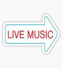 Live Music - Neon Sticker