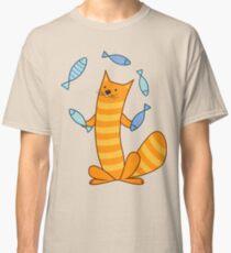 Cat juggling fish Classic T-Shirt