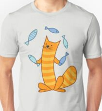 Cat juggling fish T-Shirt