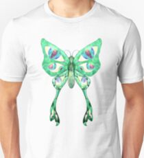 Stained Glass Butterfly Unisex T-Shirt