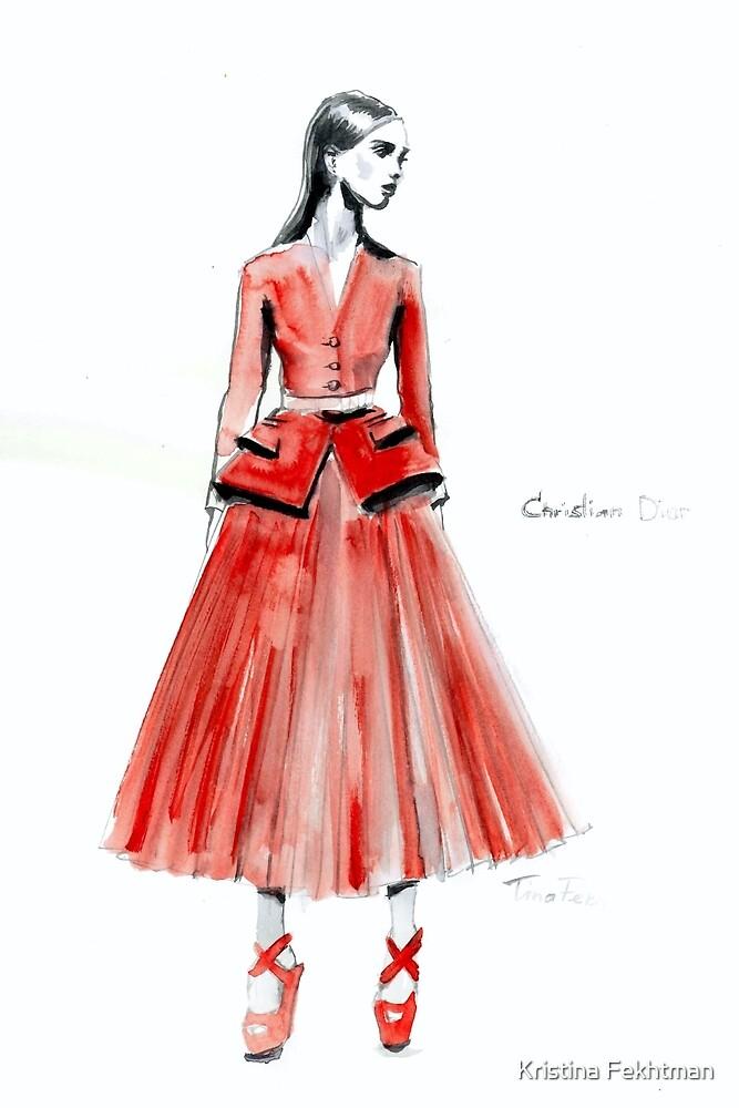 Red Dior by Kristina Fekhtman