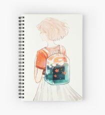Cuaderno de espiral llevar.