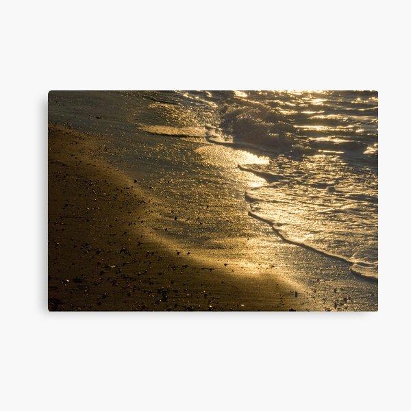 Sun Swept Sea Shore Metal Print