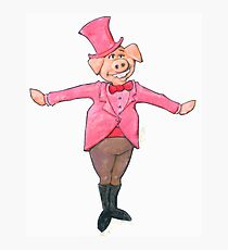 A Pig who is wearing a Top Hat Photographic Print