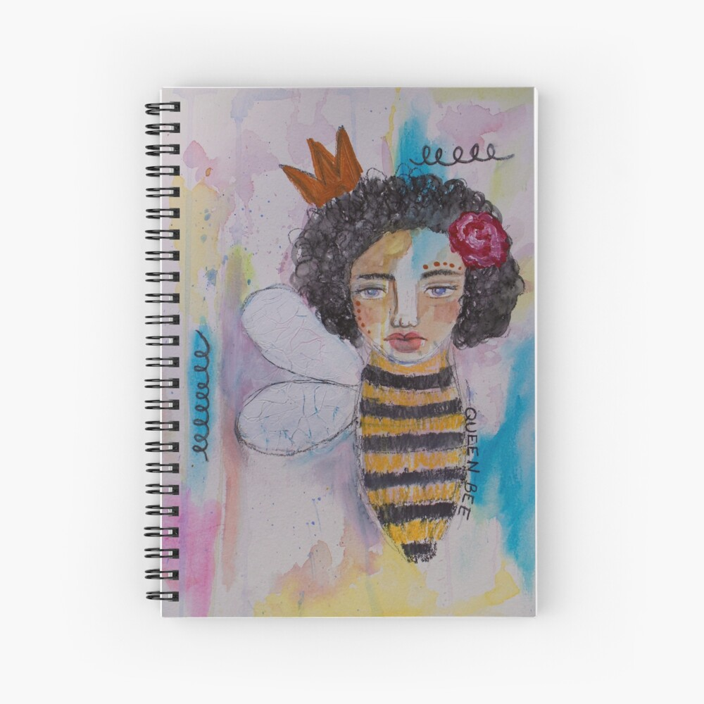 Queen Bee Spiral Notebook