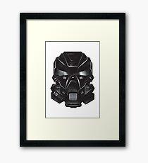 Black Metal Future Fighter Sci-fi Concept Art Framed Print
