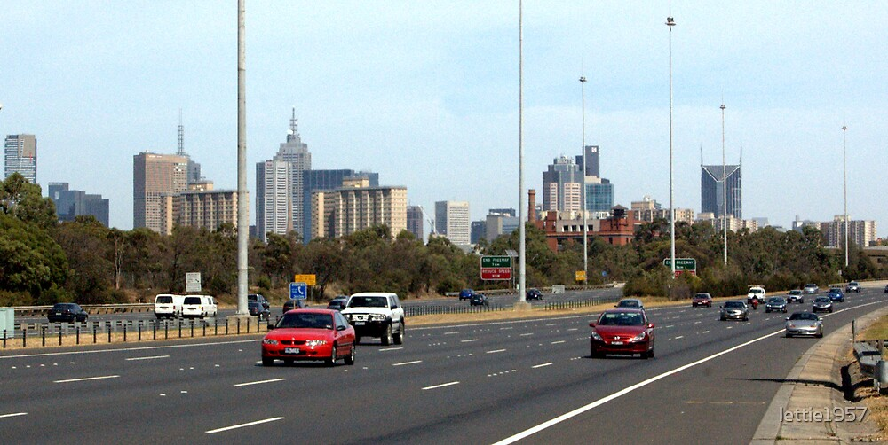 Melbourne City from the Eastern Freeway  by lettie1957