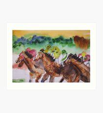 Picnic Races Art Print