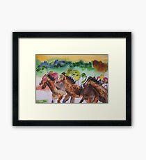 Picnic Races Framed Print