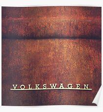 Volkswagen Rust Poster