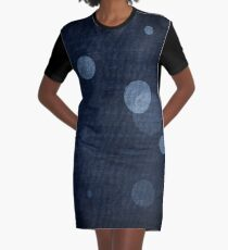 Denim Moon Graphic T-Shirt Dress