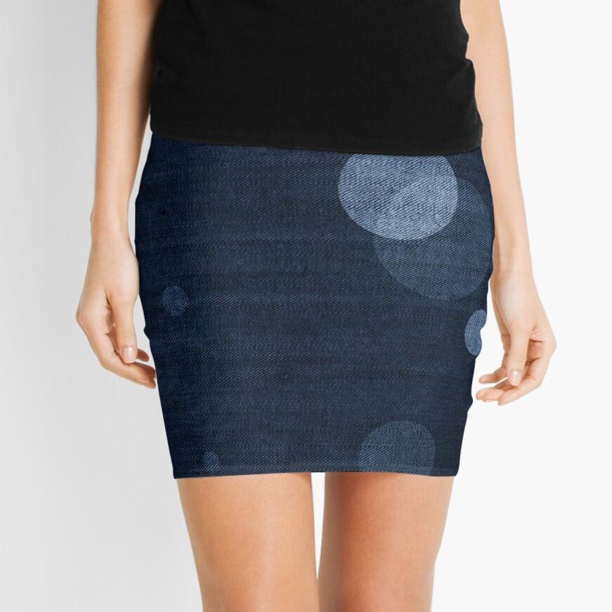Denim Moon Mini Skirt