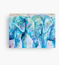 Colorful Elephants  Canvas Print