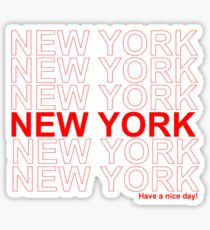 New York - Have a Nice Day Sticker