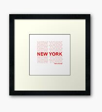 New York - Have a Nice Day Framed Print