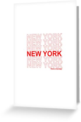 New york have a nice day greeting cards by anjali devjani redbubble new york have a nice day by anjali devjani m4hsunfo