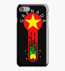nutmeg meteor (white text) iPhone Case/Skin