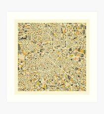 HOUSTON MAP Art Print