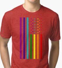 American Flag - LGBT Tri-blend T-Shirt