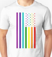 American Flag - LGBT Unisex T-Shirt