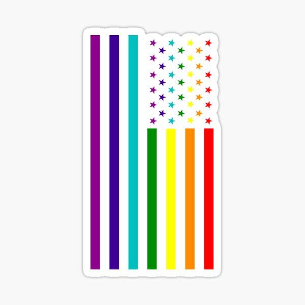 American Flag - LGBT Sticker
