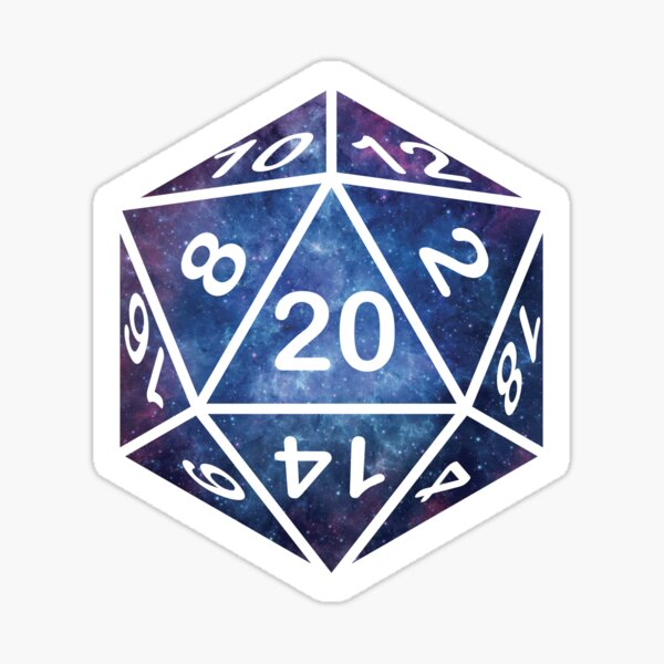 Nebula D20 Sticker