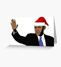 Santa Obama Greeting Card