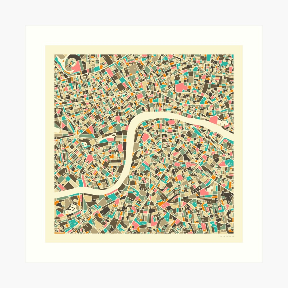 LONDON MAP (1) Art Print