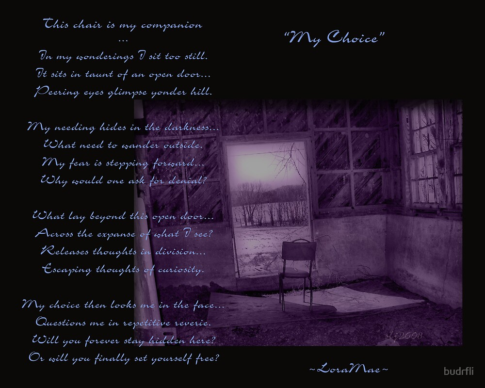 """My Choice"" by budrfli"