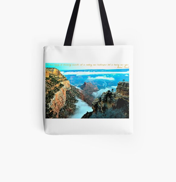 Voyage Travel Quote Collection  All Over Print Tote Bag