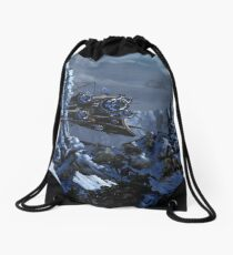 Battle of Eagle's Peak Drawstring Bag