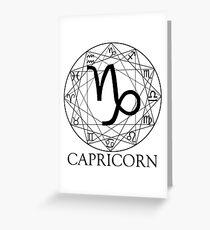 Capricorn Greeting Card